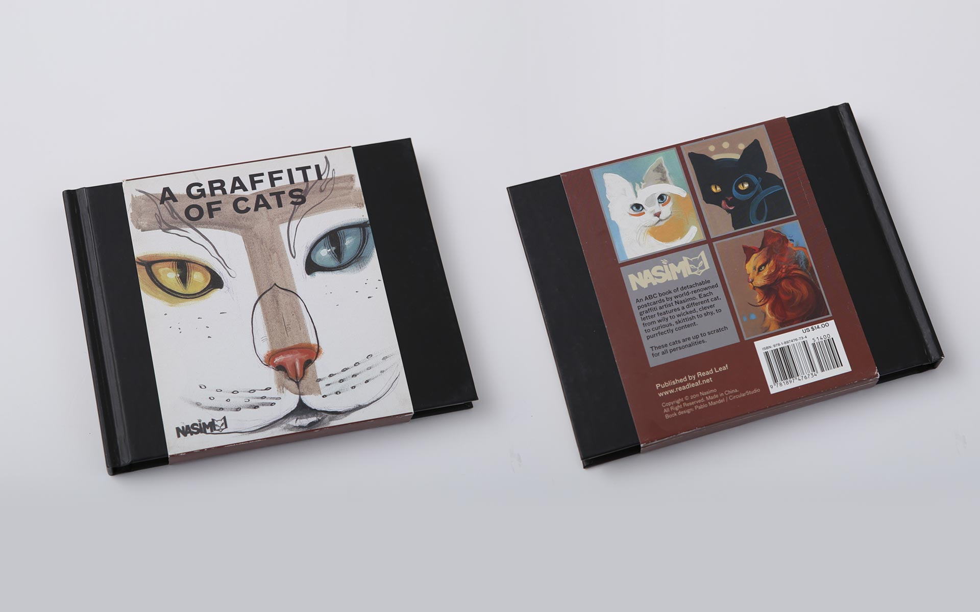 Nassimo: A Graffiti of Cats, postcards book