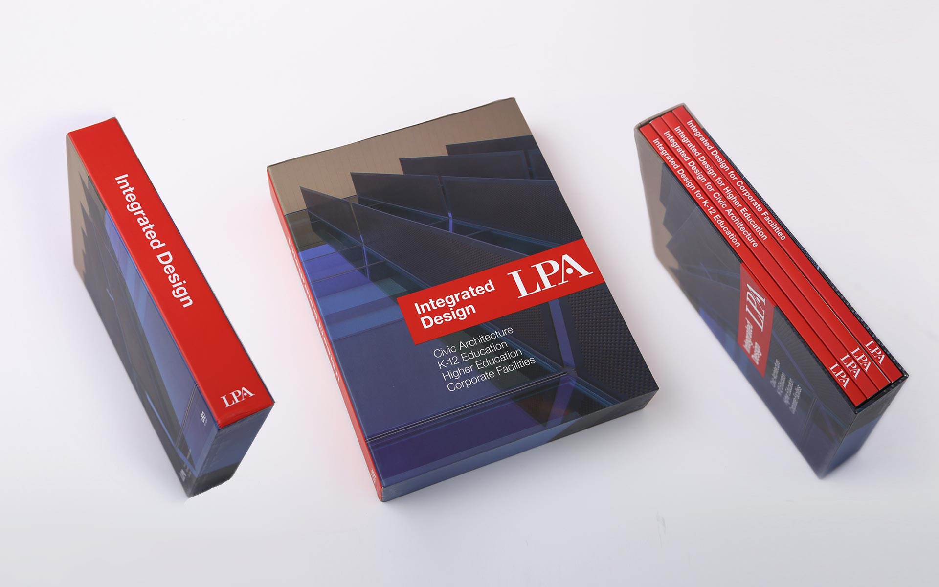 LPA: Integrated design book series, Civic Architecture, K1-2 Education, Higher Education, Sport facilities